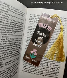 Rose Gold Mother's Day Bookmark