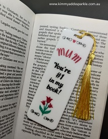 White Mother's Day Bookmark